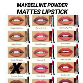 MAYBELLINE POWDER MATTES LIPSTICK