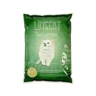 Tofu natural green tea clumping cat litter