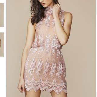 WINONA Pink Lace Dress RRP$279