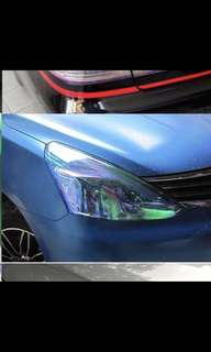 Light Film Sticker Head Tail Llight Chameleon Protection For Motorcycle Car 30X100cm