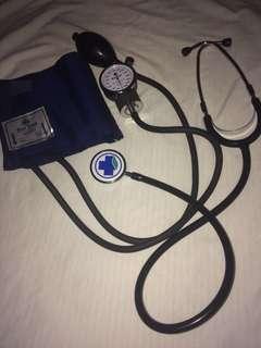 Blue Cross blood pressure apparatus