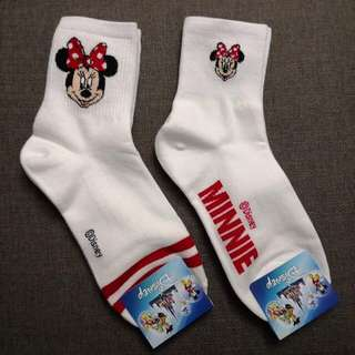 MINNIE MOUSE BIG AND SMALL SOCKS
