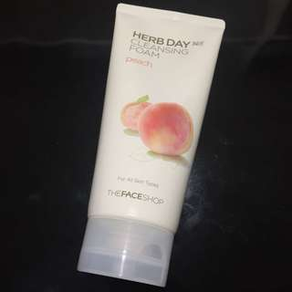 The face shop cleansing foam