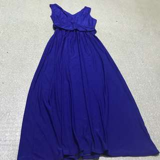Elegant electric blue dress