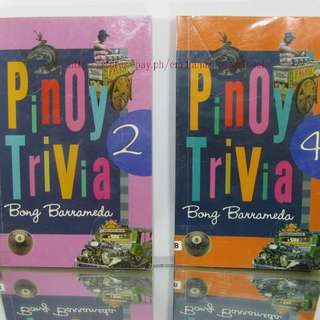 2PCS. EDUCATIONAL BOOKS PINOY TRIVIA BY BONG BARRAMEDA