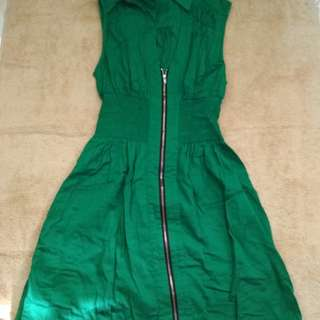 Collared Dress in Green