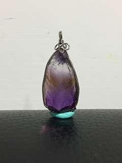 紫黃晶墜飾