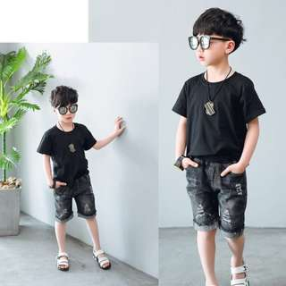 Kids Boys Jeans Fashion Shorts Summer Outfit