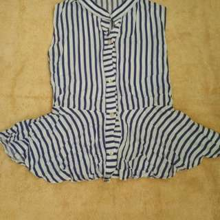 Peplum top with back string