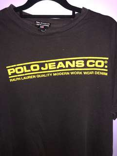 Vintage Polo jeans tee : yellow and red