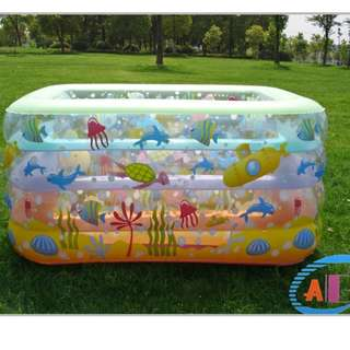 inflatable swimming pool for baby(free air pump)