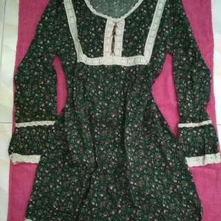 Floral Dress Longsleeves