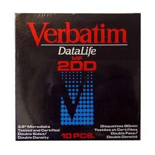 Verbatim Datalife Floppy Disk MF2DD 3.5