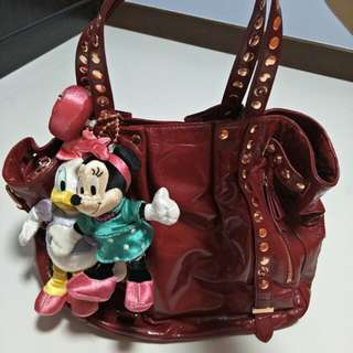 Authentic used Samantha thavasa Disney full leather bag