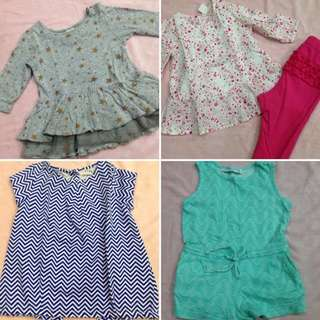 Preloved bundle for baby girls