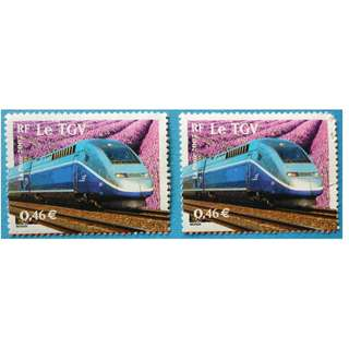 Stamp France 2002 Means of Transportation Le Train a Grande Vitesse (TGV) Euro 0.46
