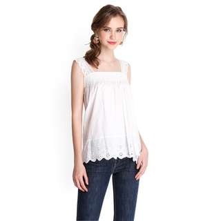 (PO) Ivory Lace Top