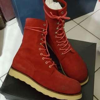 鞋子 紅色中短靴 男鞋