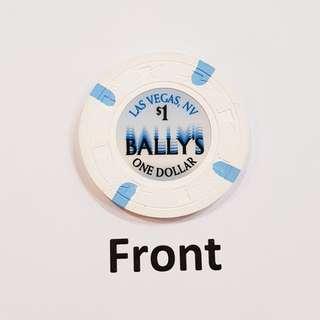 US$1 Bally's Casino Chip, Las Vegas, USA