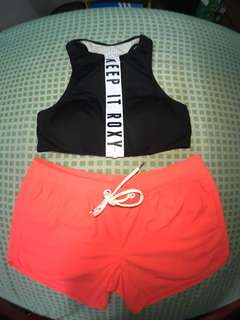 Roxy top and ripcurl shorts