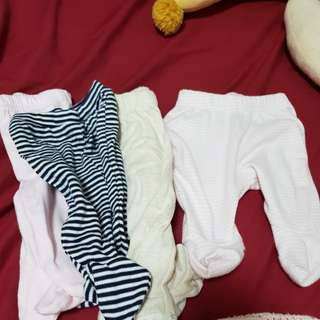 Baby pants with footies