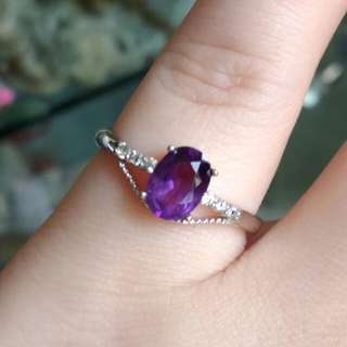 🎁Natural Purple Oval Amethyst Ring🎁