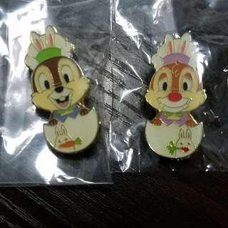 Tokyo disney pin(chip n dale)