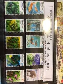 韓國舊郵票