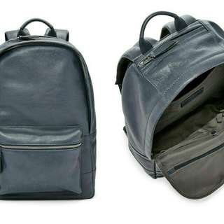 Fossil estate navy leather backpack