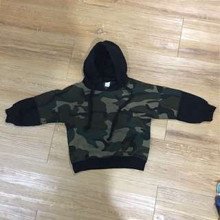 army green with cap long sleeve