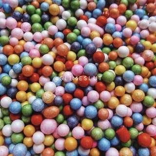 (instock) rainbow foam beads