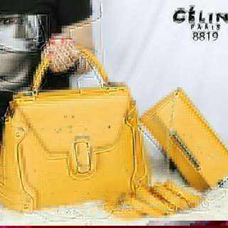 C*L*N* NeoMarie With Clutch 2in1 Smooth Leather Like Ori Hardware gold 8819 (04)* Uk. 32x25x14cm