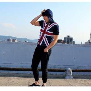 🚚 日本 古着/英倫風短外套  英國 國旗 頑皮古著