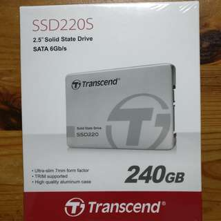 "Transcend 240GB SATA 6Gb/s 2.5"" Solid State Drive Aluminium Case"