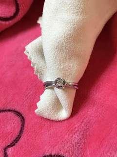 天然鑽石💎K金鑽戒💍