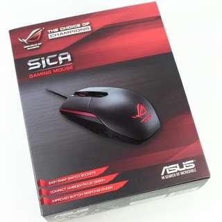 華碩 ASUS ROG Sica 電競滑鼠 隕石黑 可更換微動開關設計 雙手通用