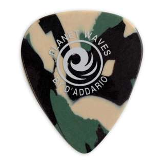 D'Addario Planet Waves Classic Celluloid ARMY CAMOUFLAGE Guitar Picks Plectrums