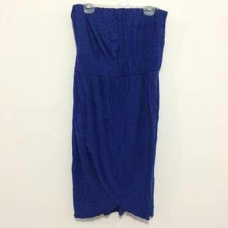 Warehouse Royal Blue Tube Dress