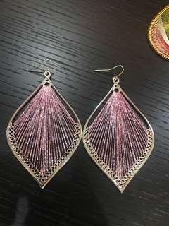 Peacock purple earring