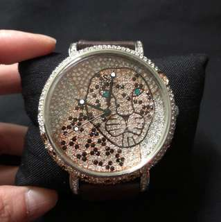 SK time Austria crystals big face bling bling watch