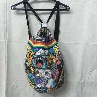 割愛 Cartoon Network 美式卡通漫畫寶貝樂一通 崔蒂 兔寶寶 傻大貓 大嘴怪 帆布 單肩 雙肩 後背包 包包 包