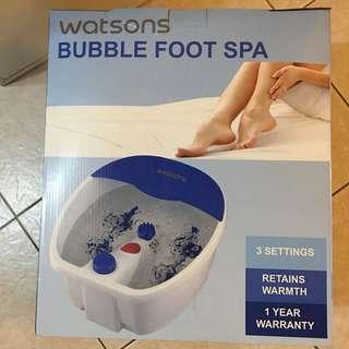 Watson's bubble foot spa