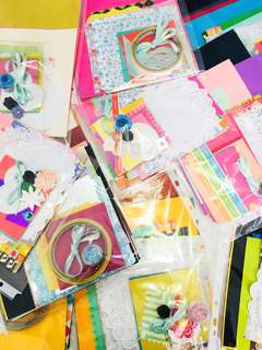 Scrapbook designer paper / cardstock grab bag