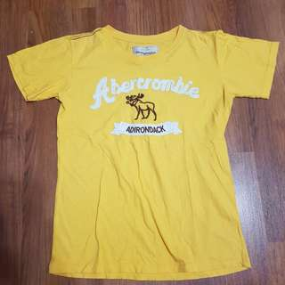 Yellow abercrombie t shirt