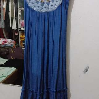 Dress biru / Blue dress / Gaun Biru
