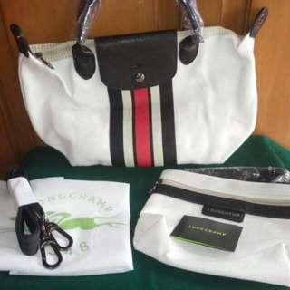 Longchamp Ruban White
