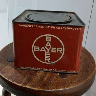 Vintage container tin from Bayer