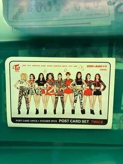Twice OOH-AHH post card set