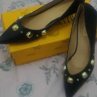 Flat shoes peter keiza black