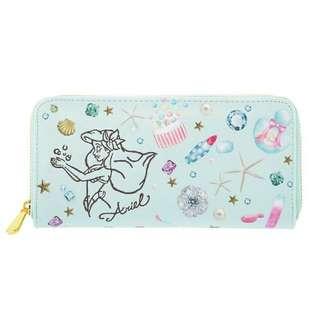 日本迪士尼商店 小美人魚 人魚公主 愛麗兒 愛莉兒 長夾 財布 錢包 水鑽 貝殼 海星 亮晶晶 錢包
